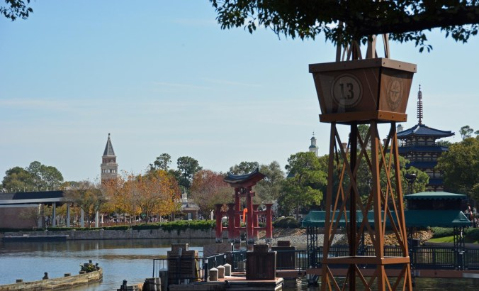 We were at the EPCOT International Festival of the Arts on Feb. 5, 2017, when I got this shot. It's from the bridge leading to the France Pavilion. Look close and you can see the Torii gate at the Japan Pavilion. We were at Walt Disney World for a weekend visit.