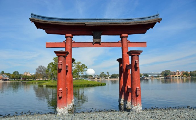 OK, I've posted photos of the Torii gate at the Japan Pavilion at the World Showcase at EPCOT at Walt Disney World. Here's another one and it's very similar to others I've posted (can't change the gate). Still, I like the image and the Torii gate is beautiful. I got the shot on Feb. 5, 2017, while we were on a weekend visit.