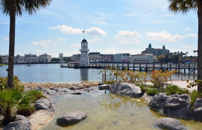 OK, so I've posted this view before, but I do like the look across the water to Disney's BoardWalk from the Stormalong Bay pool area shared by Disney's Yacht Club Resort and the Beach Club Resort. I got the shot on Feb. 5, 2017, during our weekend visit to Walt Disney World.