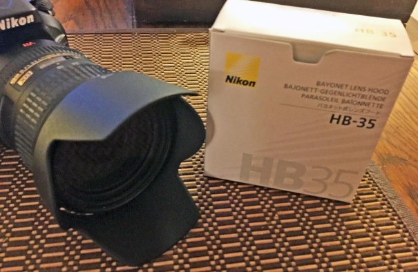 I finally bought a new lens hood for my Nikon. The previous one had a crack in groove that attaches to the lens and would fall off at inopportune times. I got a new one via Amazon.com and have it for our multi-day trip to Walt Disney World that begins today (March 3, 2017). I got the photo on Feb. 21, 2017.