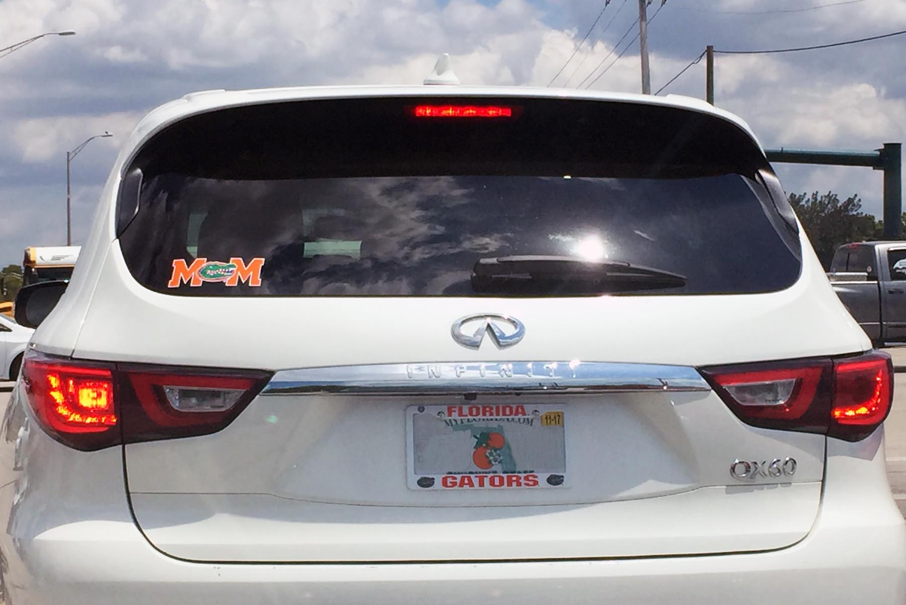 The great feeling you get seeing a Gators decal! – A GATOR IN NAPLES